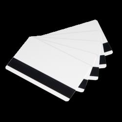 500 tarjetas con banda magnética blanca