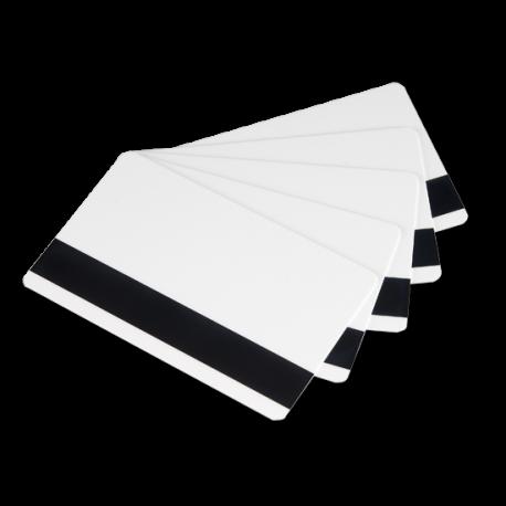 Tarjetas con banda magnética blanca